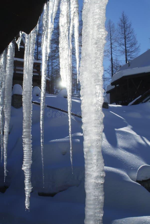 lodowy słońce zdjęcia royalty free
