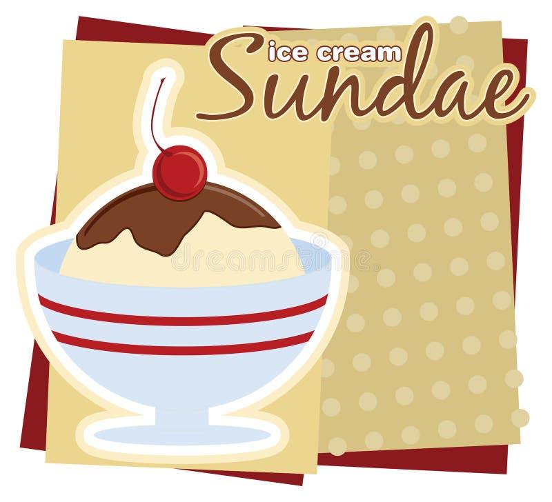 lodowy sundae kremy ilustracji