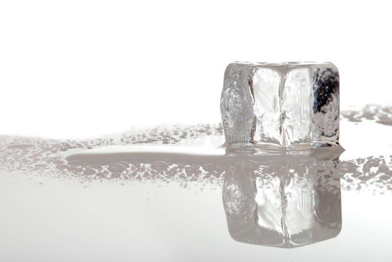 lodowy sześcianu stapianie obrazy stock
