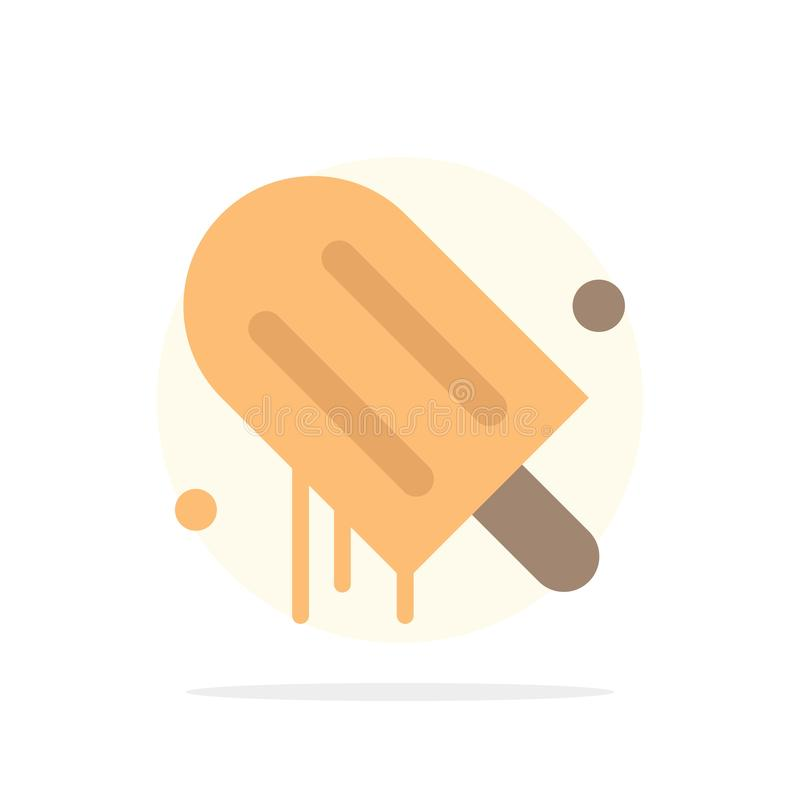 Lody, śmietanka, amerykanin, Usa okręgu Abstrakcjonistycznego tła koloru Płaska ikona ilustracja wektor