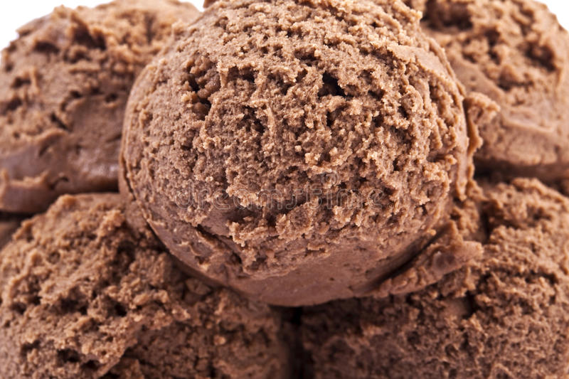 Lody czekoladowe miarki fotografia stock