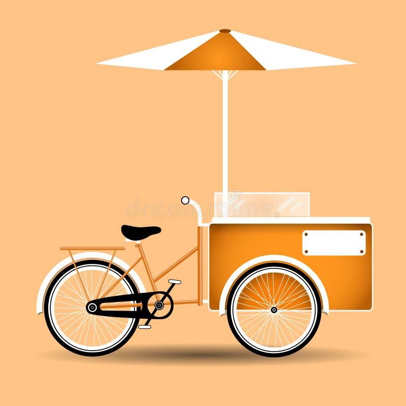Lody fury rocznika rowerowy projekt, sieci tło ilustracja wektor