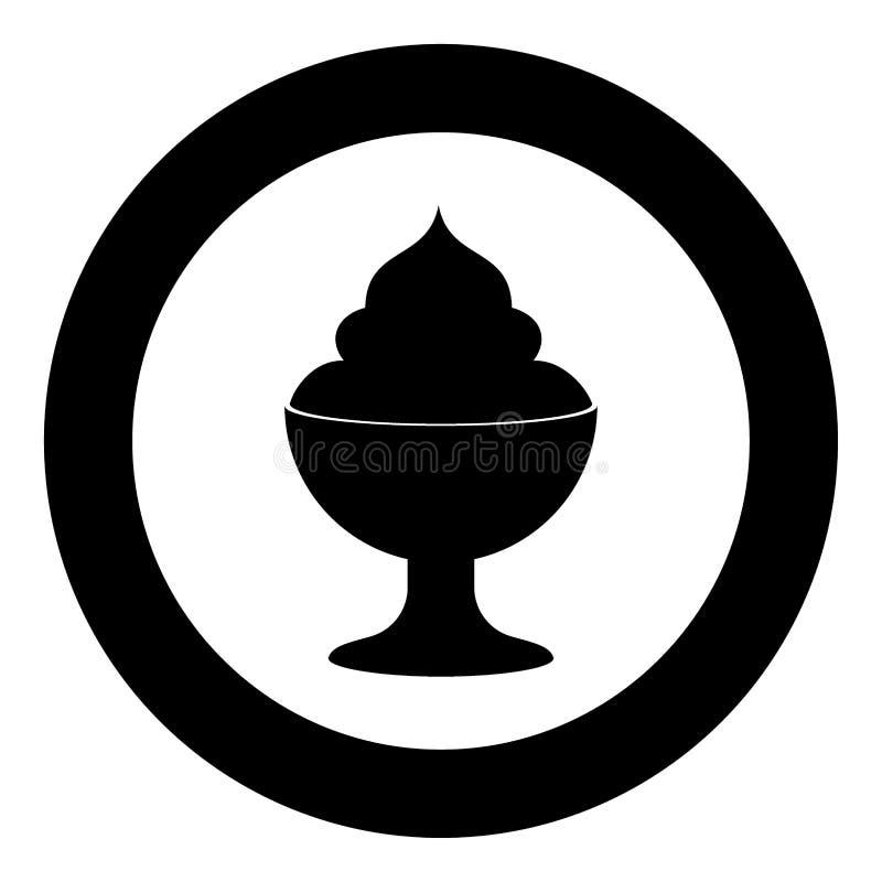 Lody ikony czerni kolor w okręgu ilustracja wektor