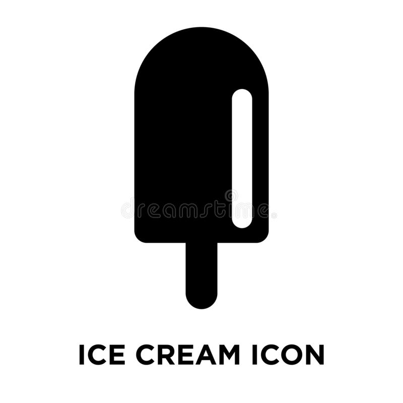 Lody ikony wektor odizolowywający na białym tle, loga pojęcie ilustracji