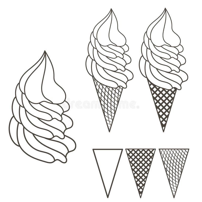 Lody logo ilustracja wektor