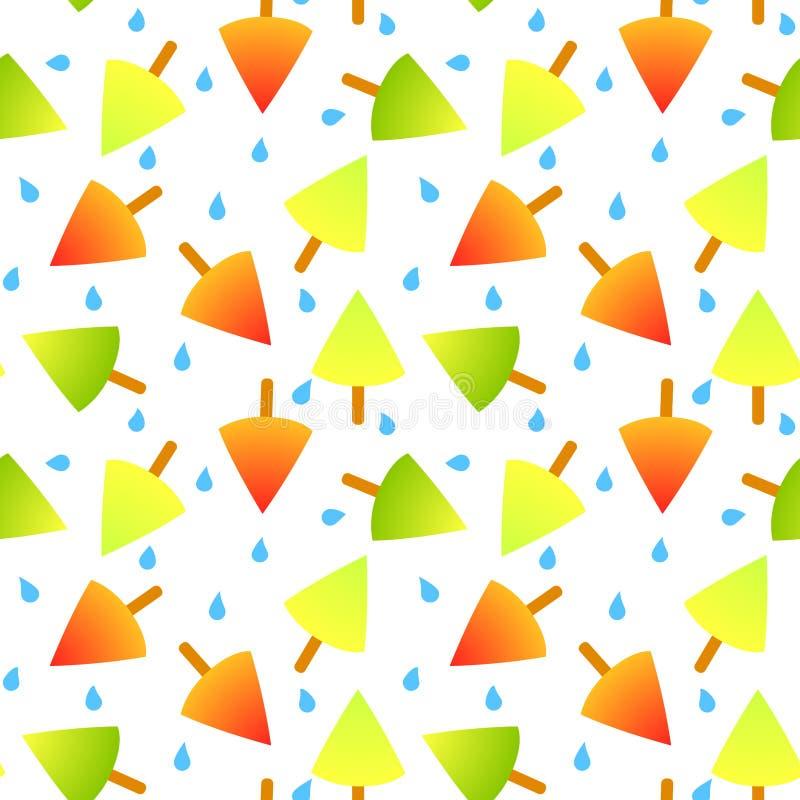 Lody na kija bezszwowym wzorze ilustracji