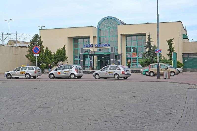 lodz poland Sikt av järnvägsstationen av den Lodz-Kalisky stationen royaltyfria foton