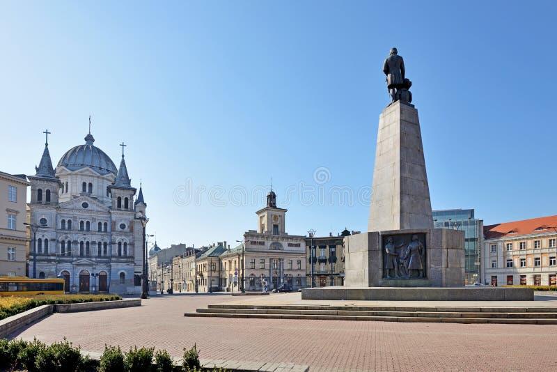 Lodz, Polen Liberty Square lizenzfreie stockbilder