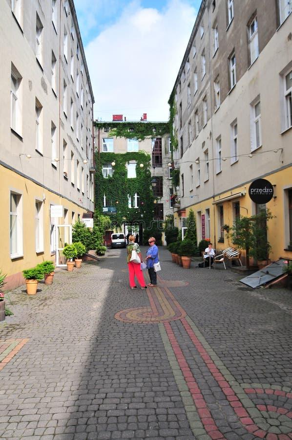 Lodz, Pologne, juillet 2018 Cour, photographie stock