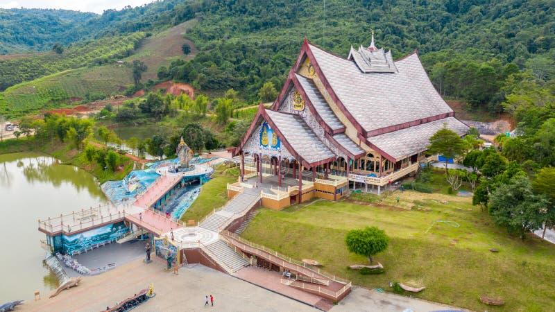 Loei Tajlandia, Październik, - 24, 2018: Wata pa huay chłopaczyna jest Pięknym sztuki świątynią Tutaj jest spokojna medytacji pra obrazy stock
