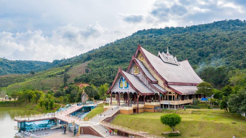 Loei Tajlandia, Październik, - 24, 2018: Wata pa huay chłopaczyna jest Pięknym sztuki świątynią Tutaj jest spokojna medytacji pra obraz royalty free