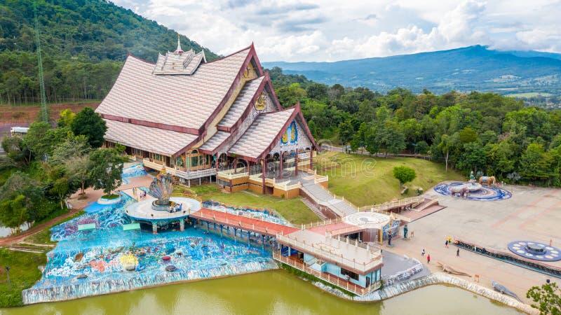 Loei Tajlandia, Październik, - 24, 2018: Wata pa huay chłopaczyna jest Pięknym sztuki świątynią Tutaj jest spokojna medytacji pra fotografia royalty free