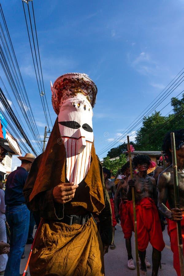 LOEI, Thaïlande - juin, 18, 2018 : Phi Ta Khon Festival photo stock
