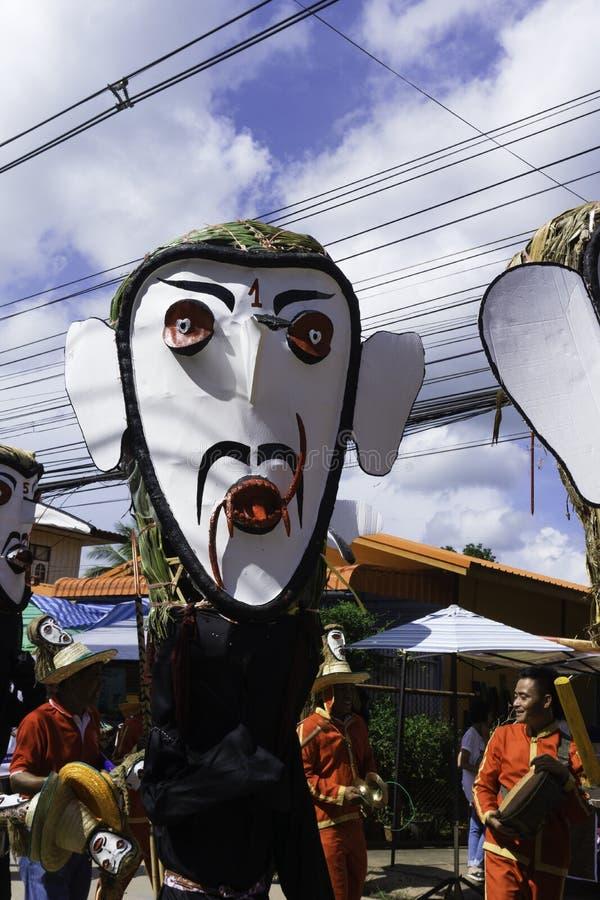 LOEI, Thaïlande - juin, 18, 2018 : Phi Ta Khon Festival photographie stock libre de droits