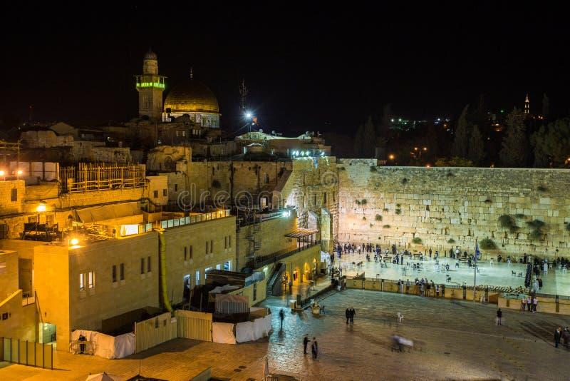 Loeiende muur, Jeruzalem stock fotografie