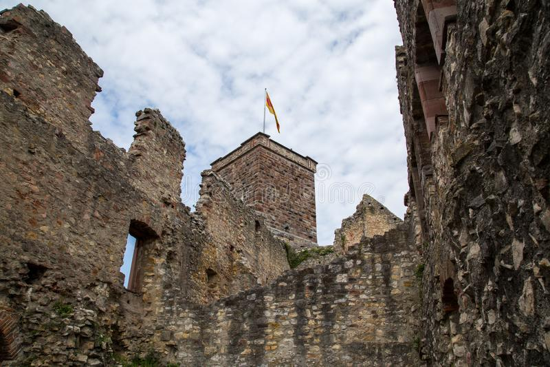 Roetteln Castle in Loerrach, Germany. Loerrach, Germany, July 27, 2014: Roetteln Castle lies in the extreme southwest corner of the German state of Baden stock images
