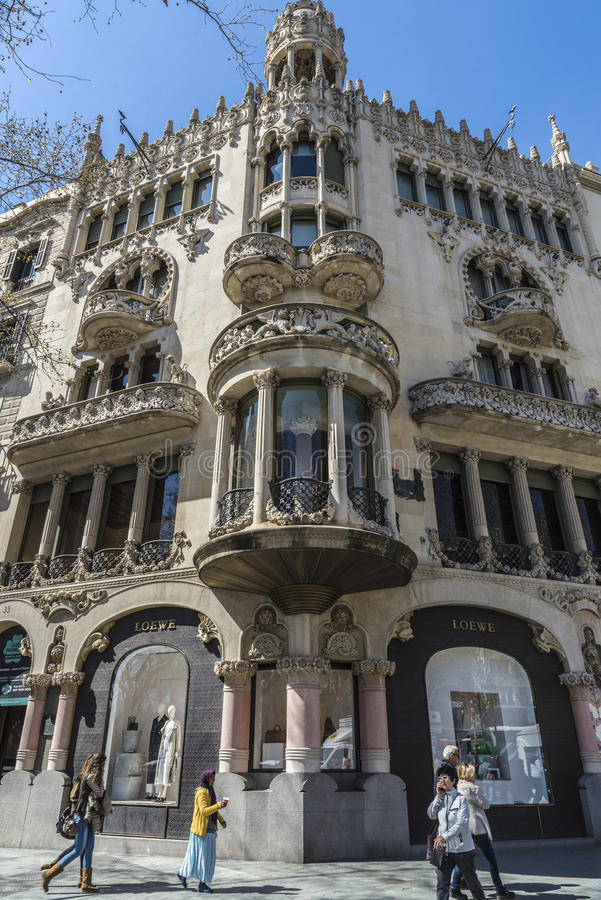 Loewe lager, Barcelona royaltyfria bilder