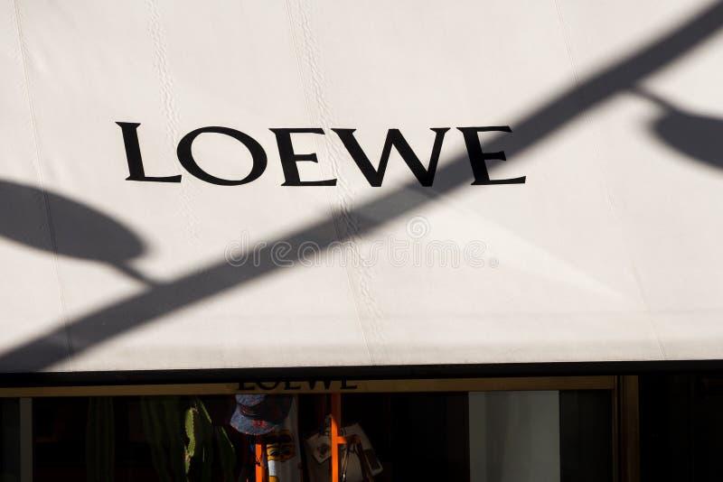 Loewe logo p royaltyfri foto