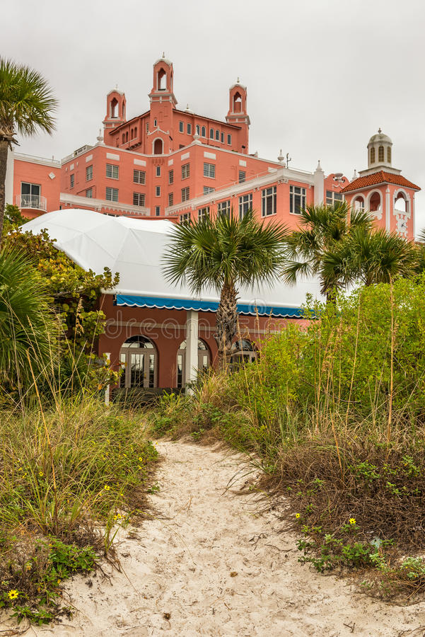 Loews Don CeSar Hotel located in St. Pete Beach, Florida. ST. PETERSBURG, FLORIDA - JANUARY 14, 2015 : Loews Don CeSar Hotel located in St. Pete Beach. It is a royalty free stock photos