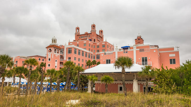 Loews Don CeSar Hotel located in St. Pete Beach, Florida. ST. PETERSBURG, FLORIDA - JANUARY 14, 2015 : Loews Don CeSar Hotel located in St. Pete Beach. It is a stock photography