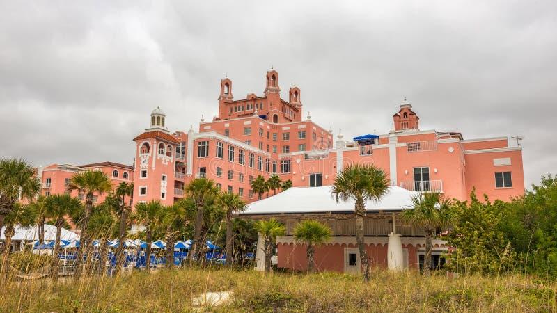 Loews Don CeSar Hotel som lokaliseras i St Pete Beach, Florida arkivbild
