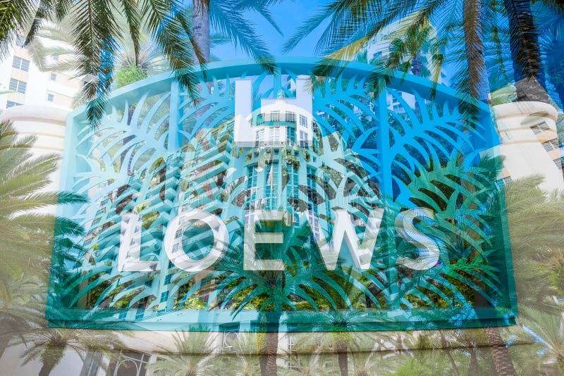 Loews hotell royaltyfri fotografi