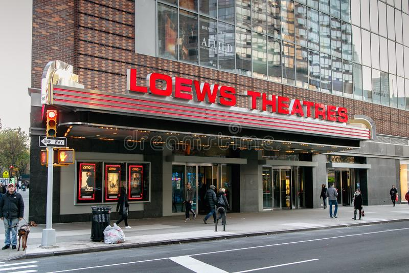 Loews teater royaltyfri bild