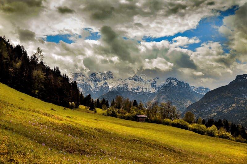 Loferer Steinberge Salzburg Austria. Loferer stone mountain by Salzburg in Austria royalty free stock images
