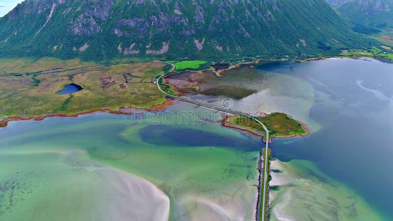 Lofoten海岛是一个群岛在诺尔兰,挪威县  免版税库存照片