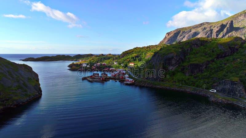 Lofoten海岛是一个群岛在诺尔兰,挪威县  免版税库存图片