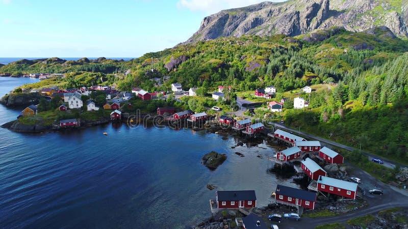 Lofoten öar är en skärgård i länet av Nordland, Norge fotografering för bildbyråer