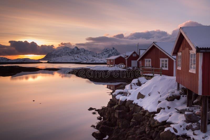 Lofoten Ισλανδία στοκ φωτογραφίες