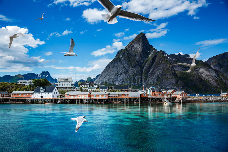 Lofoten-Archipel-Inselinseln Norwegen stockfotografie
