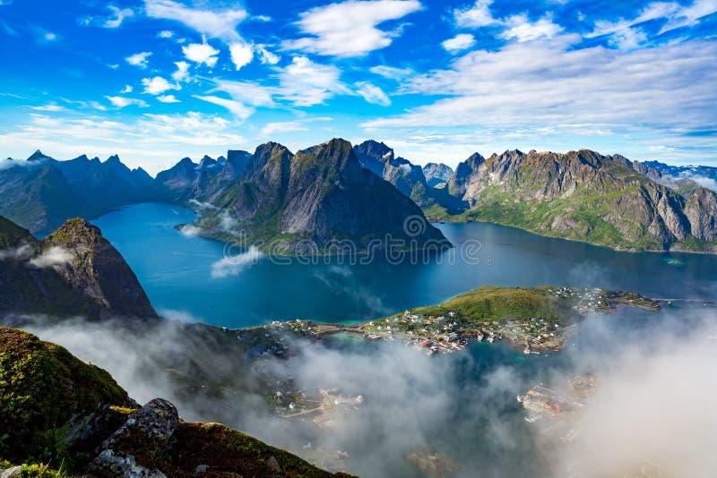 Lofoten-Archipel-Inselluftbildfotografie stockfotografie