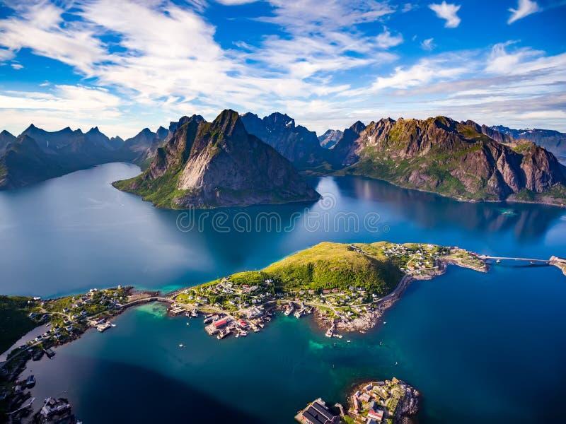 Lofoten-Archipel-Inselluftbildfotografie lizenzfreie stockfotos