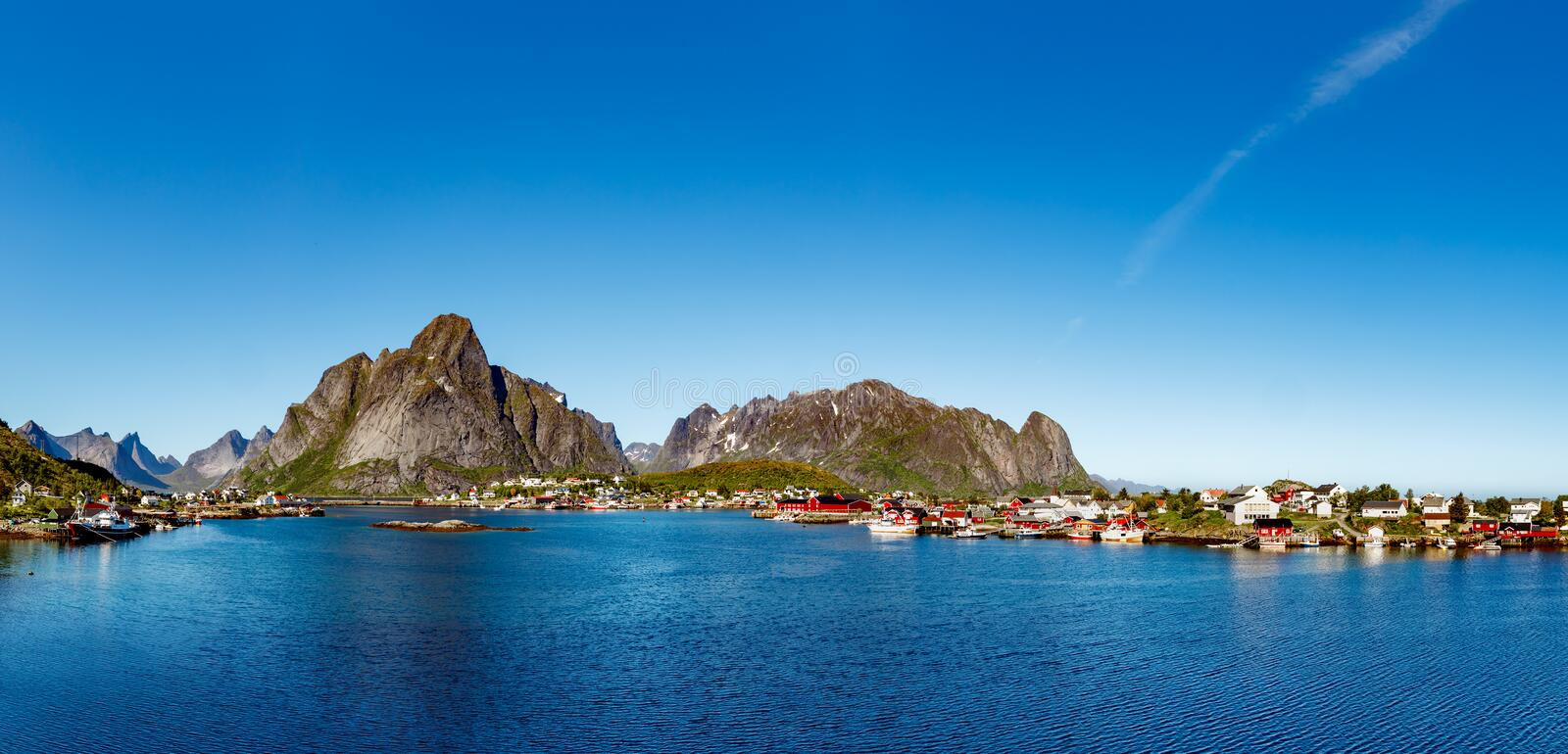 Lofoten is an archipelago in the county of Nordland, Norway. Panorama Lofoten is an archipelago in the county of Nordland, Norway. Is known for a distinctive stock photography