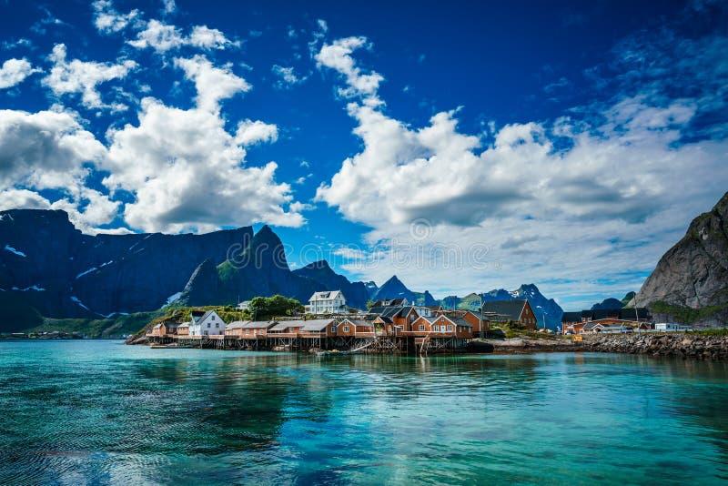 Lofoten-Archipelinseln Norwegen stockbild