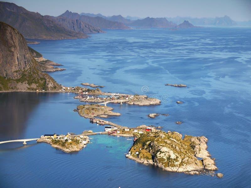 Lofoten famoso, paesaggio della Norvegia, Nordland immagine stock libera da diritti