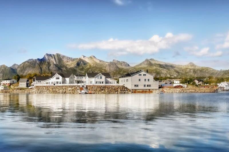 Lofoten famoso, paesaggio della Norvegia, Nordland immagini stock libere da diritti