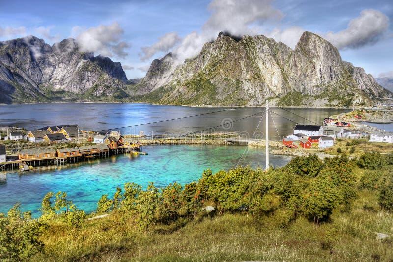 Lofoten famoso, paesaggio della Norvegia, Nordland fotografia stock