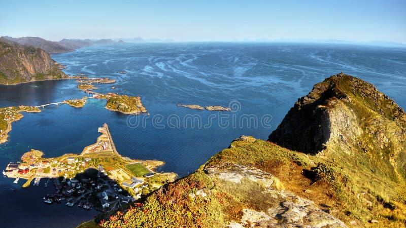 Lofoten famoso, paesaggio della Norvegia, Nordland immagini stock