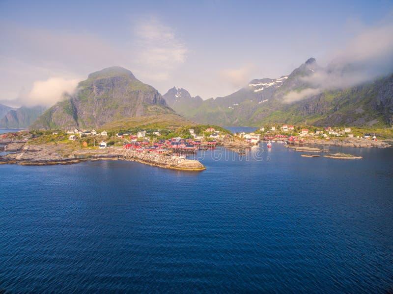 Lofoten fishing village royalty free stock image