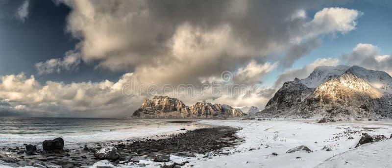 The greatest beach on the Lofoten Islands royalty free stock image
