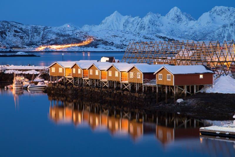 Lofoten Islândia imagens de stock