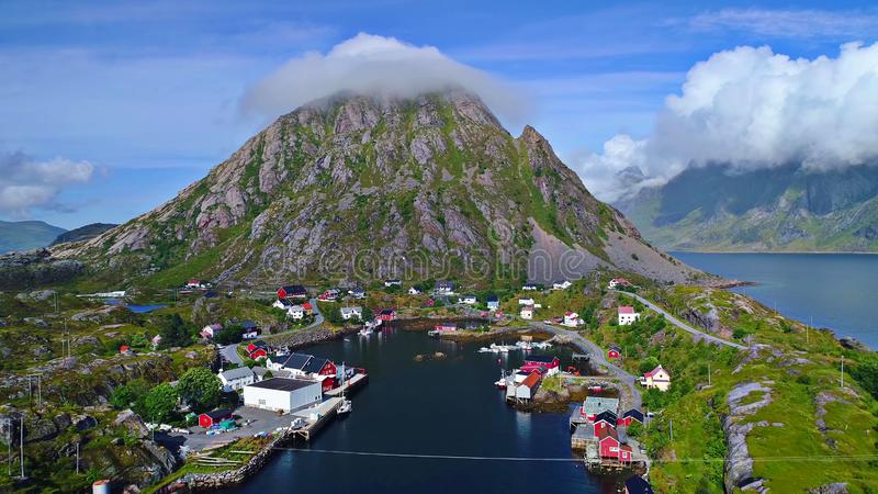 Lofoten islands is an archipelago in the county of Nordland, Norway stock images