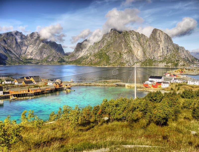 Lofoten Islands Reine Landscape Norway royalty free stock photos