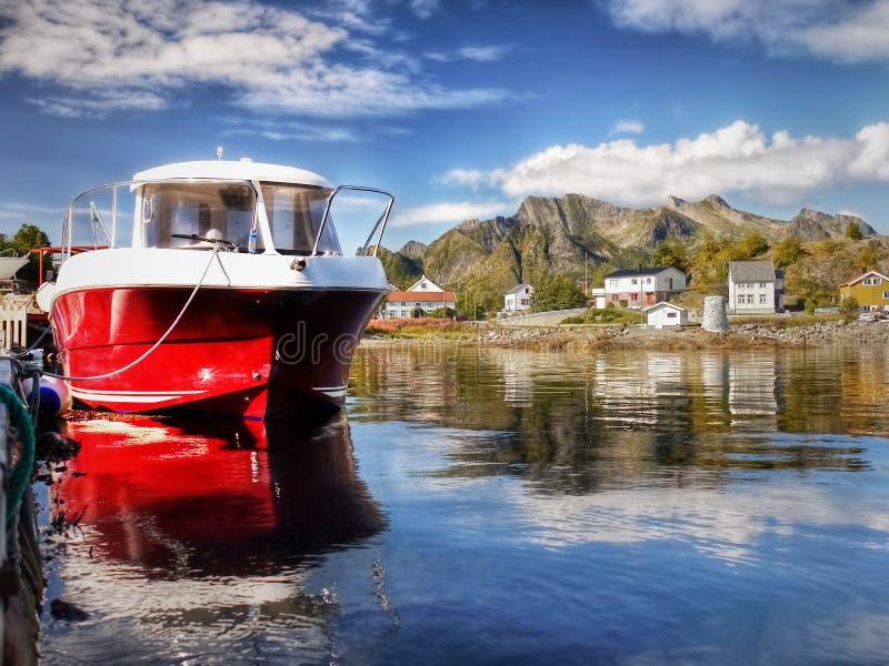 Lofoten, Kabelvag village, Coastal Landscape royalty free stock photography