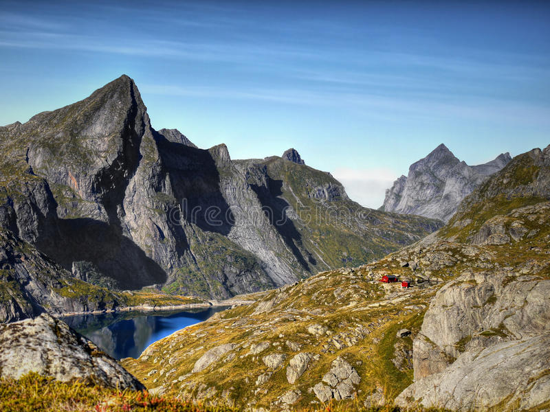 Lofoten Mountains, Nordland, Norway stock photos