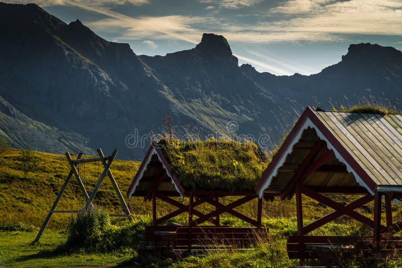 Lofoten Norge landskap arkivbild