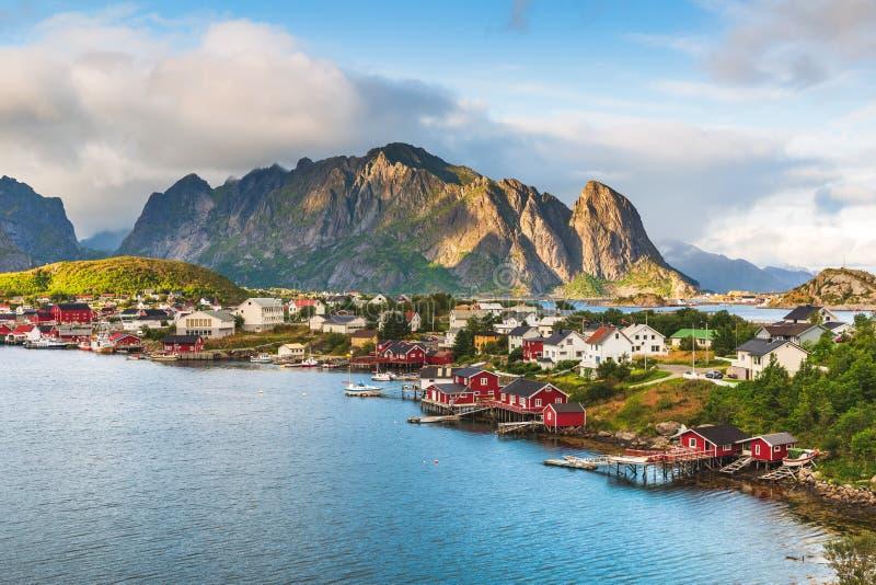 Lofoten Reine, Norge royaltyfria bilder